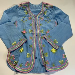 Tops - Embroidered Top Blouse Spring Colors